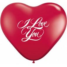 GLOBO NO. 6 CORAZÓN LOVE ROJO