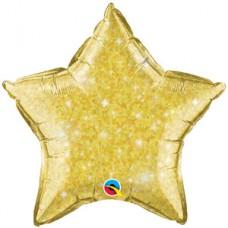 Estrella Escarchada Amarilla