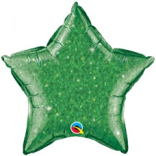 Estrella Escarchada Verde