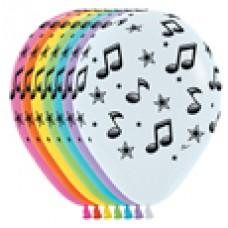 GLOBO NO. 11 NOTAS MUSICALES IMPRESO