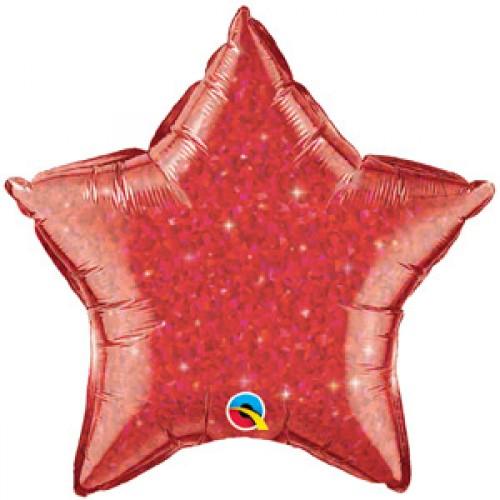 Estrella Escarchada Roja